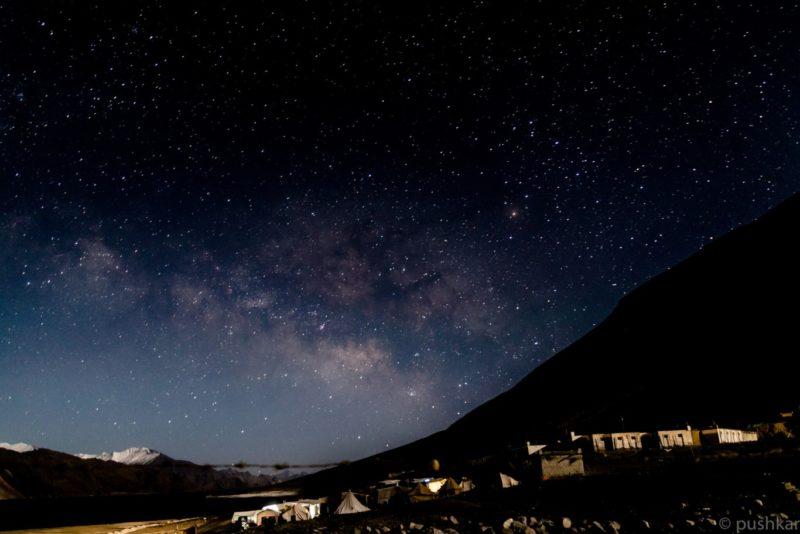 Pangong Tso Night Sky Stars Camping