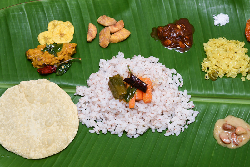 Kerala's traditional lunch