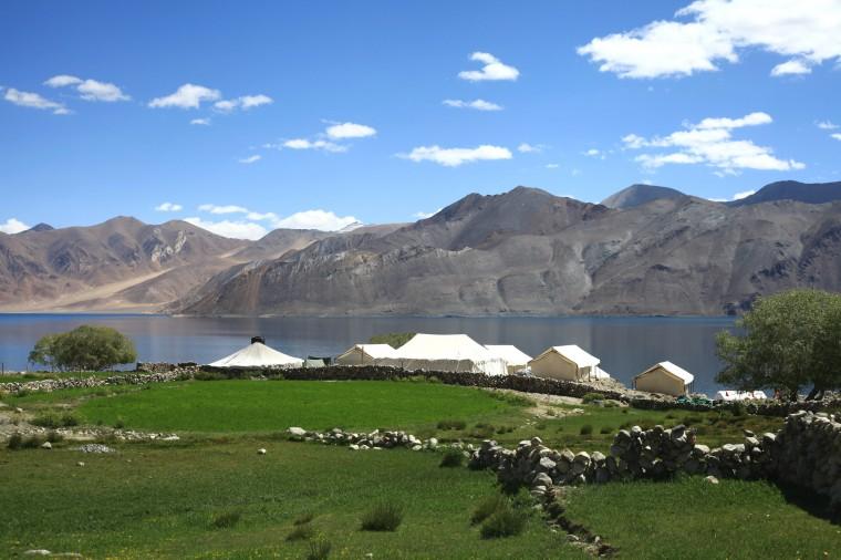 Village Near Pangong Tso Ladakh Isolated