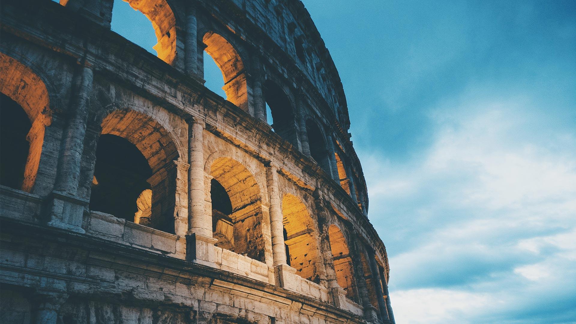 colosseum rome italy medieval roman