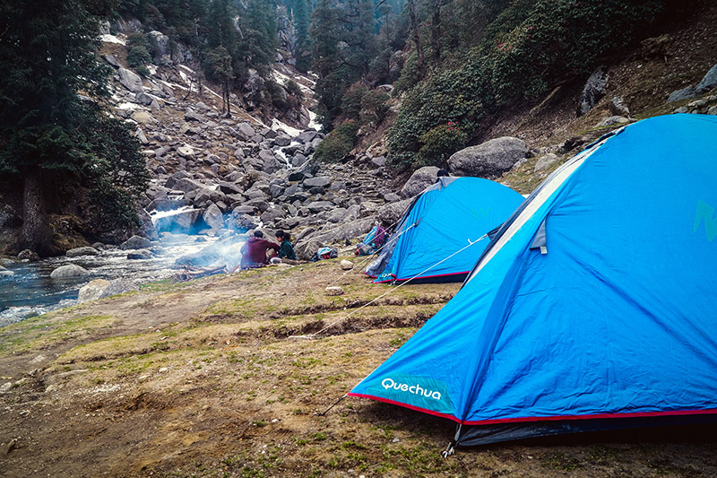 Camping in Dharamkot