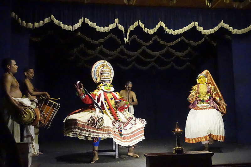 Kathakali performance at Kochi Fort