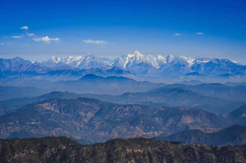 Binsar Wildlife Sanctuary Zero Point Mountain Range Almora Uttrakhand