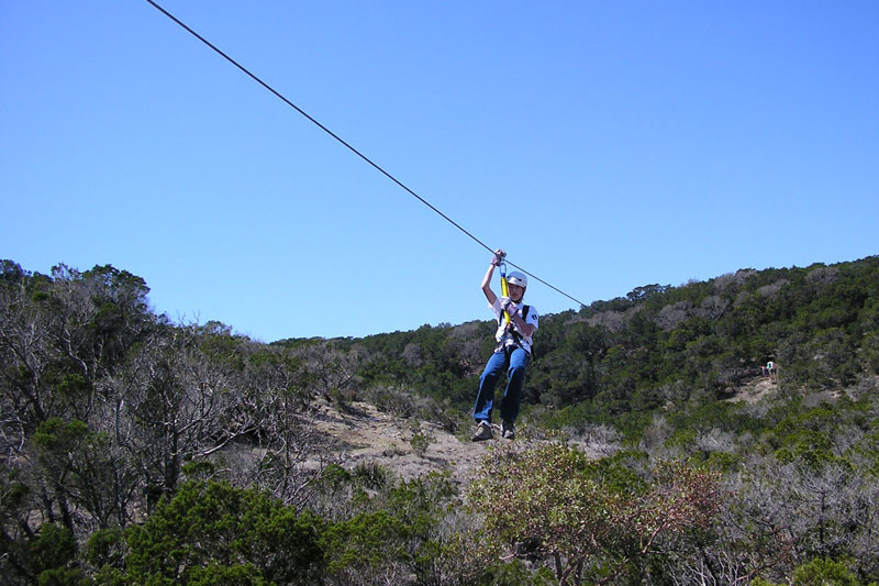 Zip-lining at Pangot