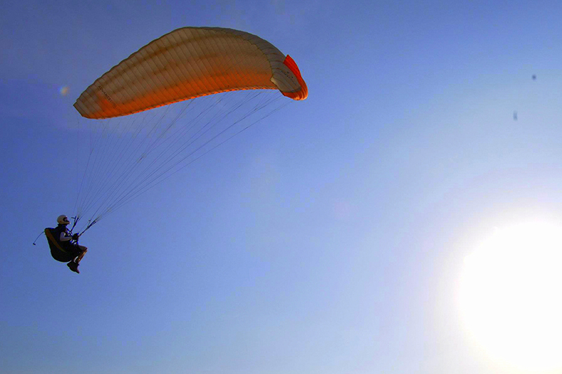 Paragliding at Bhimtal