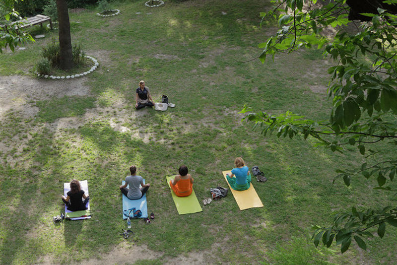 Yoga at Bir, Himachal Pradesh