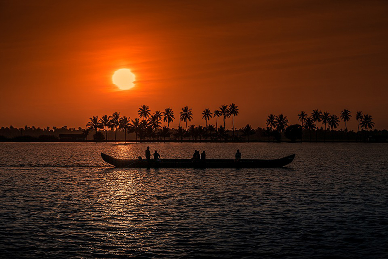Sunset at Poovar Island