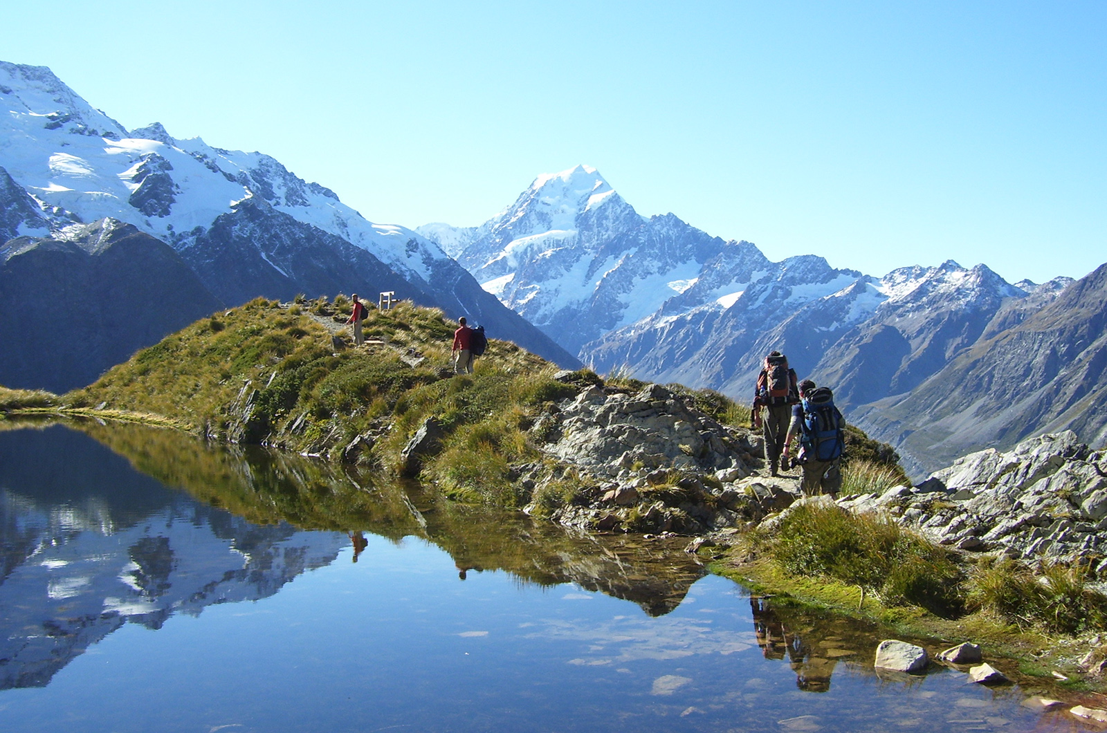 Mount Cook National Park Walk New Zealand