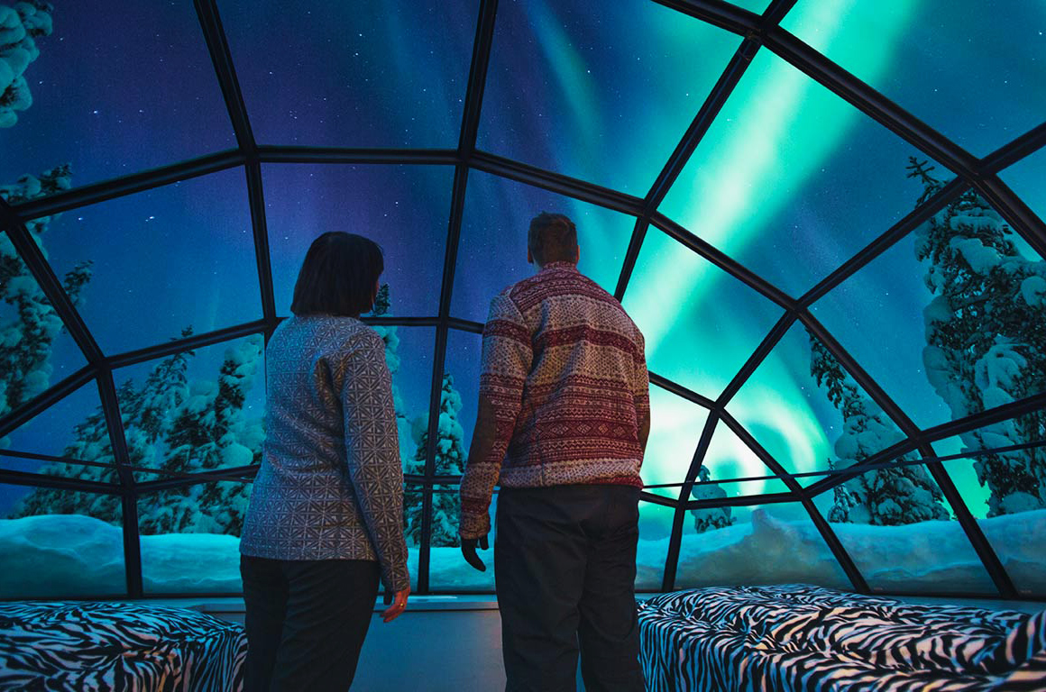 northern lights - glass igloo honeymoon experience