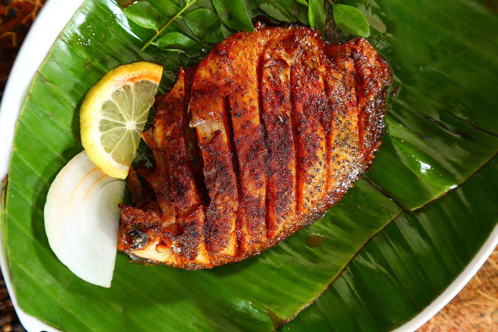 Karimeen Pollichathu Kerala Food