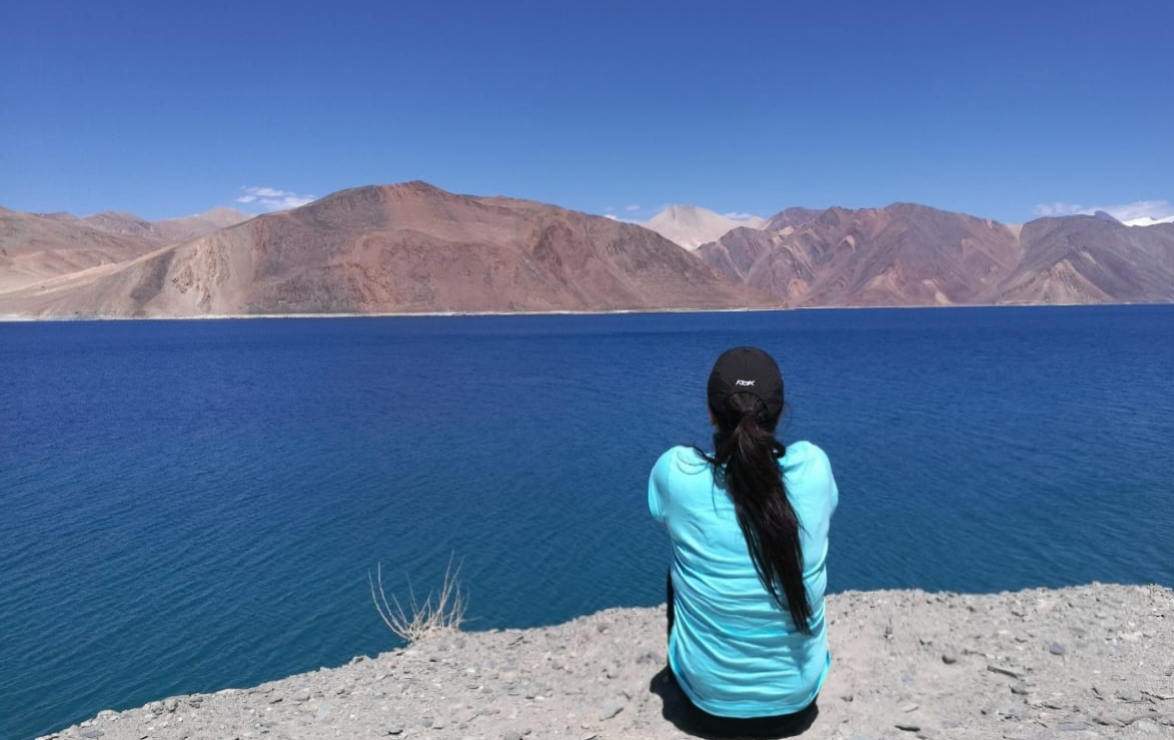 At Pangong Lake